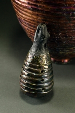 Copper Top Coil Vessel with Animal Ocarina