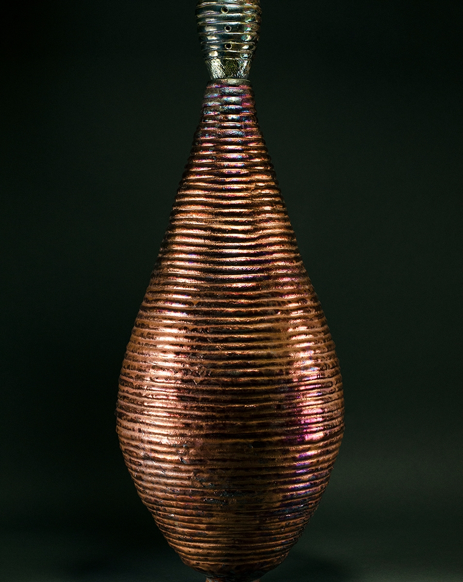 Copper Top Raku Vessel