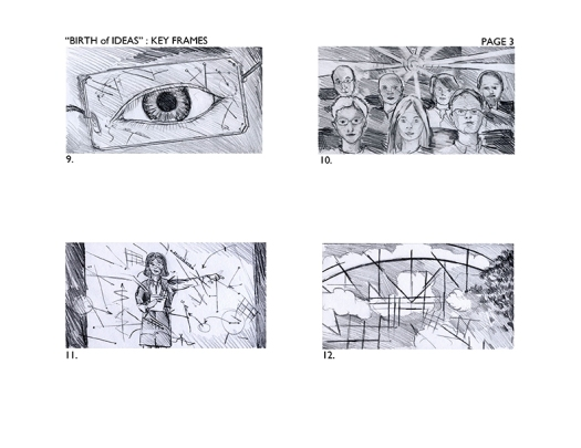 Storyboards for UF Shands Commercial