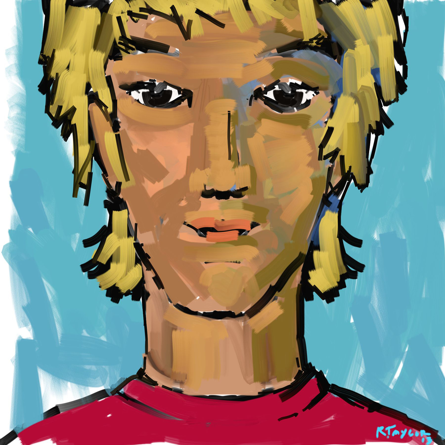 digital illustration of a surfer kid